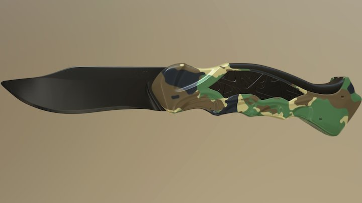 Svartetrollen (Original Knife Design) 3D Model