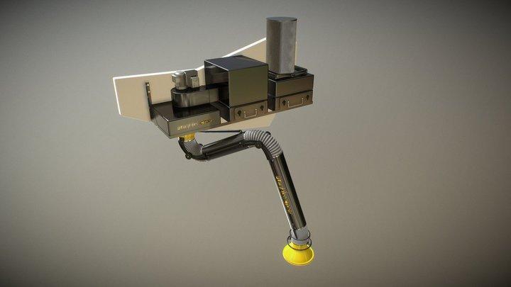 Wall Mounted_Long_Filter 3D Model