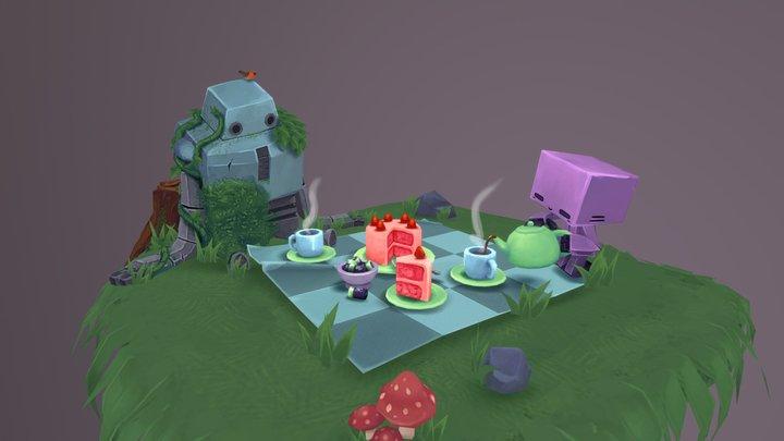 Teabot's Picnic 3D Model