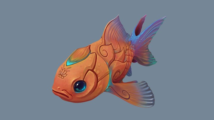 Lotus Fish 3D Model