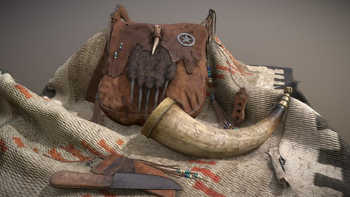 Hunting Bag 3D Model