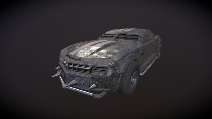 Game-Ready Armored Battlecar 3D Model