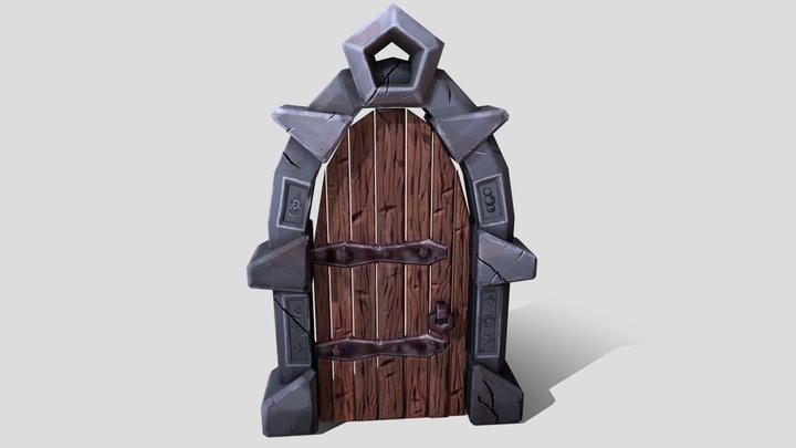 Dwarf Dungeon Gate 3D Model