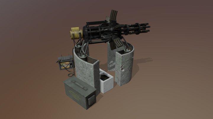 Scrap Gatling Gun 3D Model