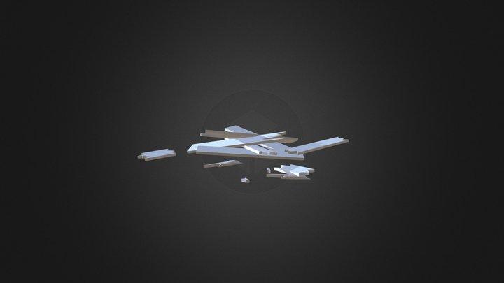 Broken Boards 3D Model