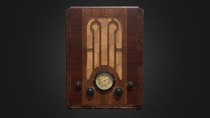 30's Radio 3D Model