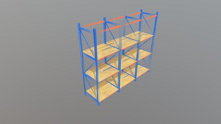 Industrial Storage Rack 3D Model