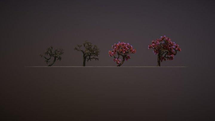 1323 (twitter) Followers Trees :D 3D Model