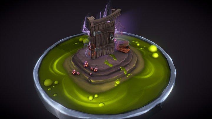 Witch's door 3D Model