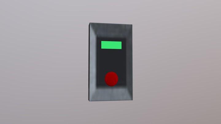 SCP Button 3D Model