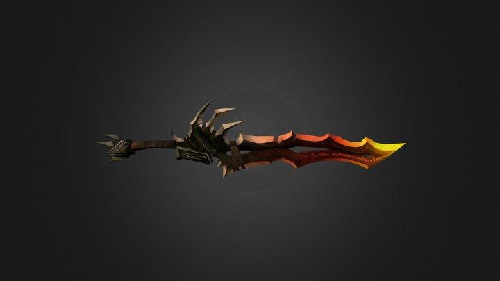 Knight sword 3D Model