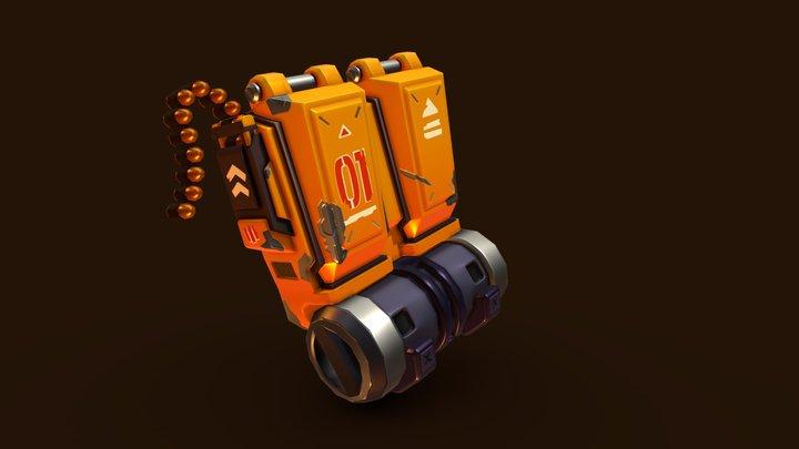 Stylized Backpack 3D Model