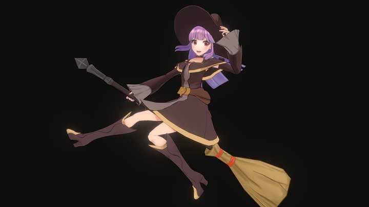 Witch Girl 3D Model