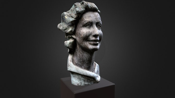 Modelo fotogramétrico escultura María Mariño 3D Model