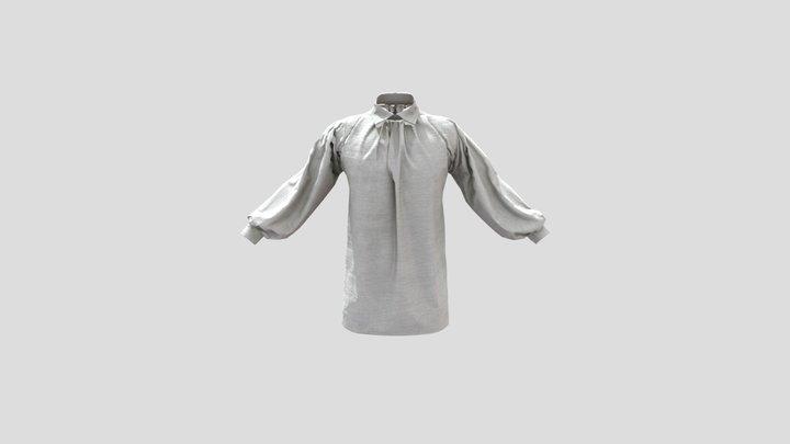 Early 19th Century Men's Shirt (Turned Collar) 3D Model