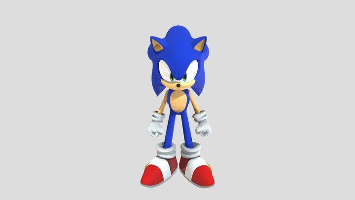 Sonic-HD 3D Model