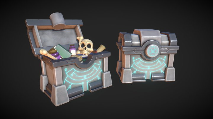 Ary and the Secret of Seasons Chest 3D Model