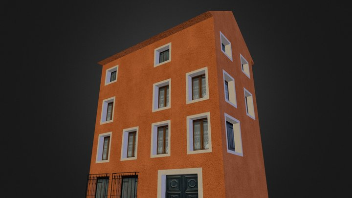 City Scene Venice House 8 3D Model