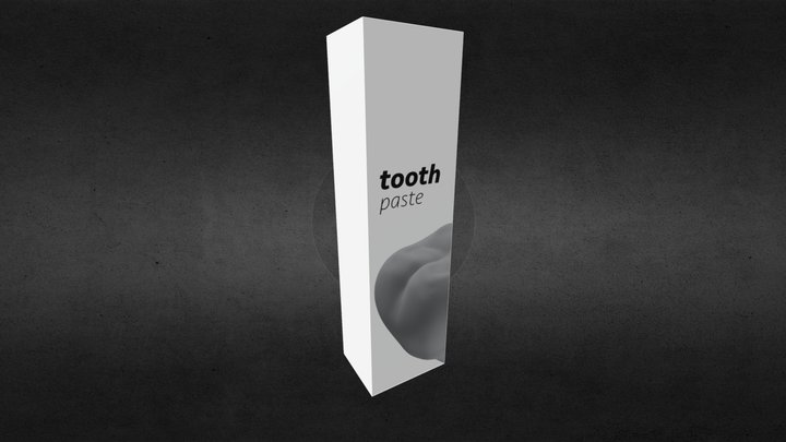 Tooth paste box 3D Model