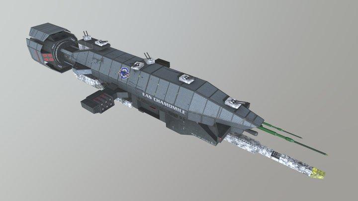 Warlock class Destroyer 3D Model