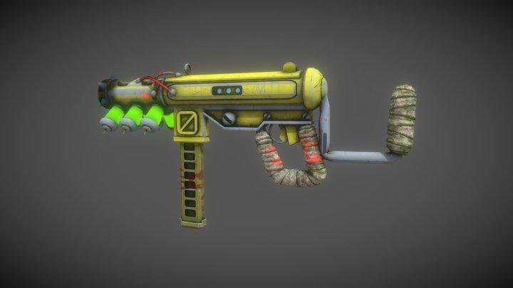 Scifi sub machine gun 3D Model