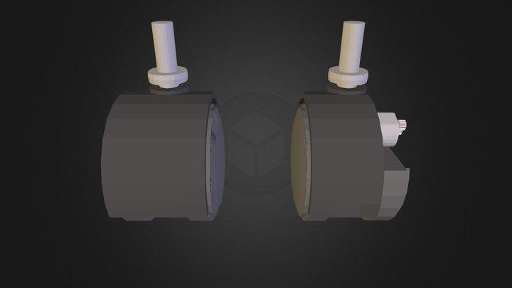 caster 3D Model
