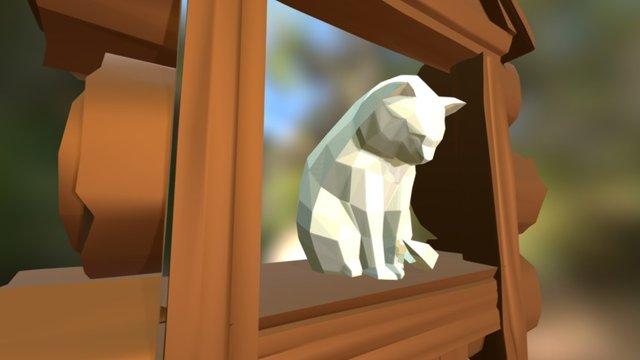 Cat in the Window 3D Model