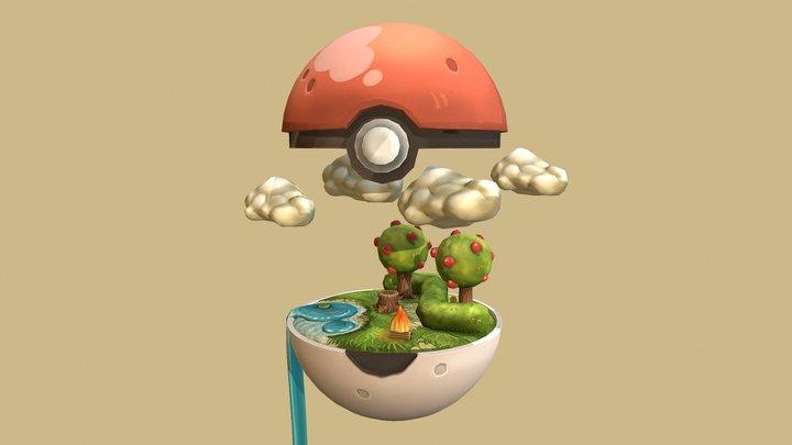 Poké Ball - Pokemon Pokeball 3D Model