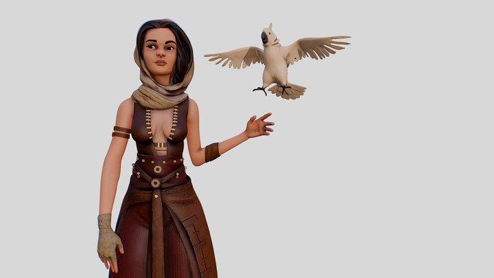 Parrot Girl 3D Model
