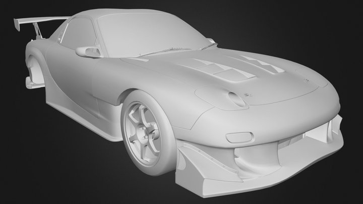 Mazda RX-7 Keisuke Takahashi's 3D Model
