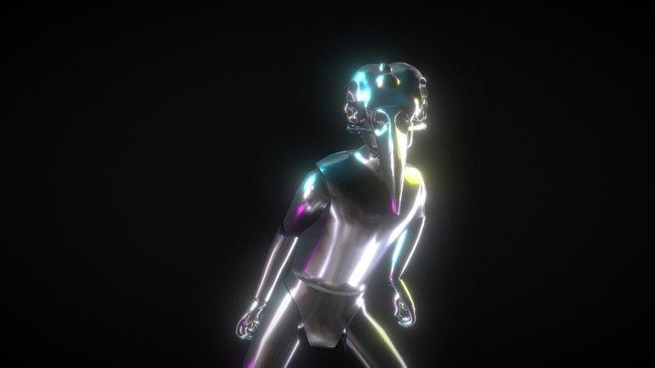 Funky Corvid 3D Model