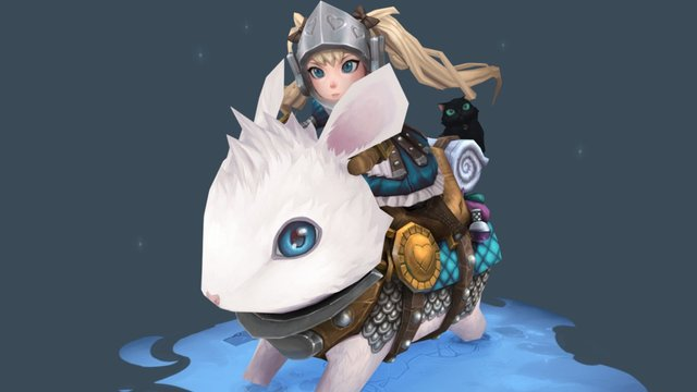 Adventures of Alice and Bun Bun the White 3D Model