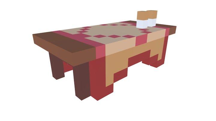 8 Bit Voxelish Table Test 3D Model