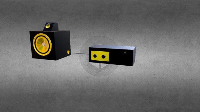 Active speaker model 3D Model