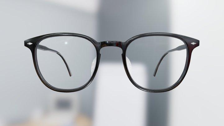 Generic Basic Wellington Glasses (Black) 3D Model