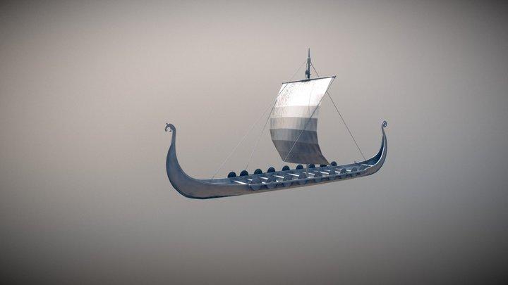 Viking Long Ship 3D Model