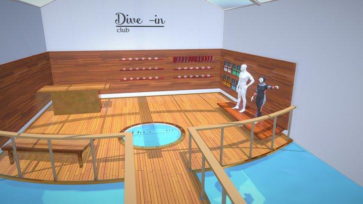 Dive shop 3D Model