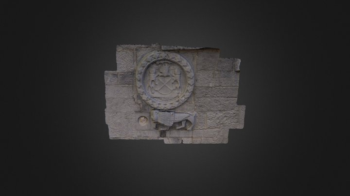 Coat of Arms (Fitzgerald). Lynch's Castle Galway 3D Model