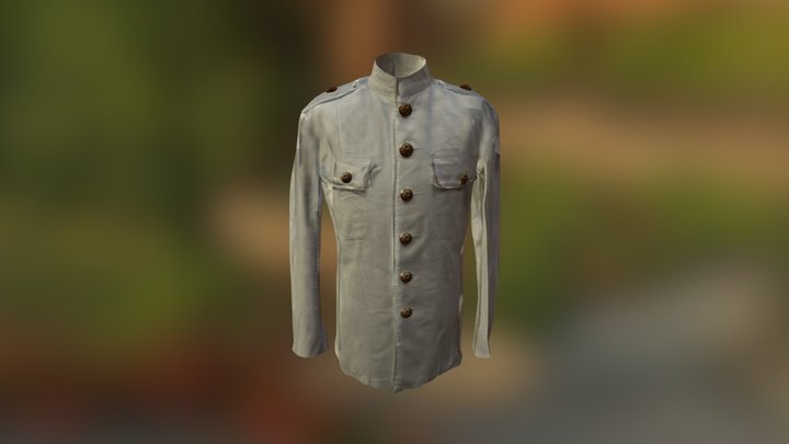 175 Years: White Military Suit 3D Model