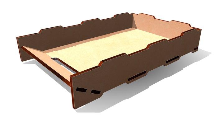 MDF Box 228x062x356 A 3D Model