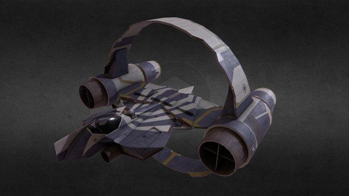 Star Wars - Plo Koon's Delta 7 Jedi Starfighter 3D Model