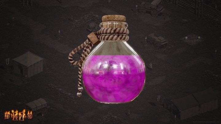 Full Rejuvernation Potion - [ Diablo II ] 3D Model