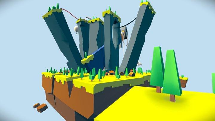 Sword town 3D Model