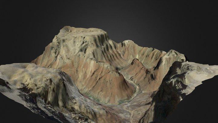Colorado River - Grand Canyon (Video to Mesh) 3D Model