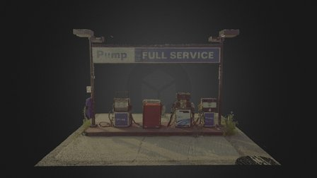 Gas Station; Pumps Only; 10mm 3D Model