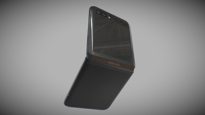 Samsung Galaxy Z Flip black 3D Model
