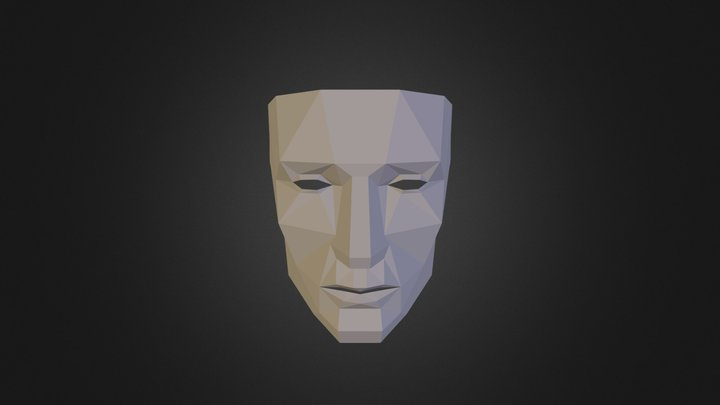 Low_Poly_Mask 3D Model