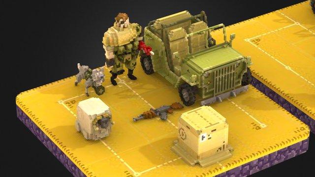 Metal Gear Solid GO! 3D Model