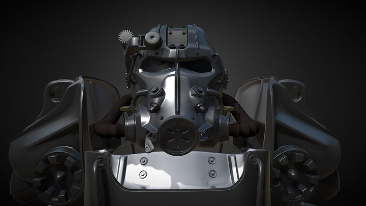 Power Armor from Fallout. Model T60 3D Model