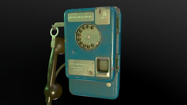 Soviet Payphone in the Matrix 3D Model